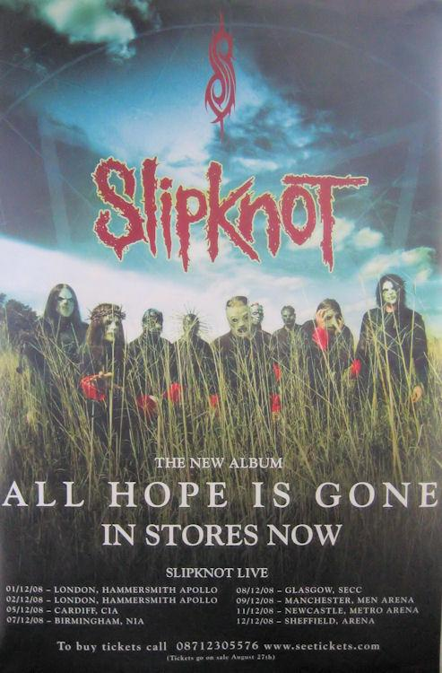 slipknot album advert